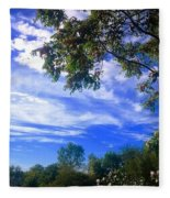 View Of Countryside In Frederick Maryland In Summer Fleece Blanket
