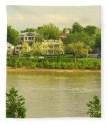 View Of Covington Kentucky Fleece Blanket