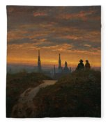 View Of Dresden At Sunset  Fleece Blanket