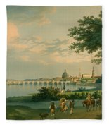 View Of Dresden Fleece Blanket