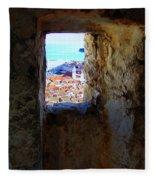 View Of Dubrovnik  Fleece Blanket