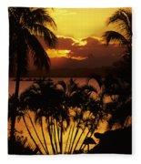 View Of Fiji Fleece Blanket