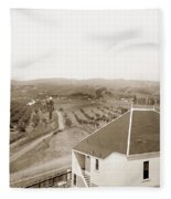 View Of Foothill Orchards. This View Of Orchards In The Foothill Fleece Blanket