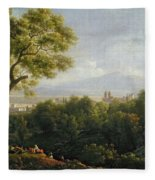 View Of Frascati Fleece Blanket
