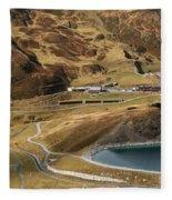 View Of Kleine Scheidegg Fleece Blanket