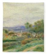View Of La Seyne Fleece Blanket