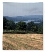 View Of Lake Waramaug Fleece Blanket