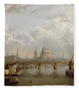 View Of London  Fleece Blanket