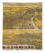 View Of Los Angeles, 1894 Fleece Blanket