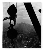 View Of Lower Manhattan From The Empire State Building Fleece Blanket