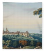 View Of Lucerne Fleece Blanket