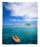 View Of Micronesia Fleece Blanket