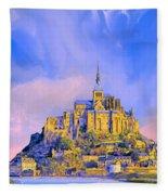 View Of Mont Saint Michel Fleece Blanket