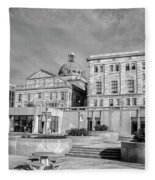 View Of Montgomery County Courthouse From The Southside In Black Fleece Blanket