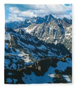 View Of Mountains, Table Mountain Fleece Blanket