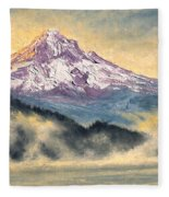 View Of Mt Hood Fleece Blanket