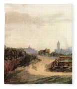 View Of Nuremberg 1497 Fleece Blanket