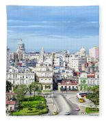 View Of Old Town Havana Fleece Blanket