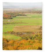 View Of Ottawa Valley In Autumn 13 Fleece Blanket