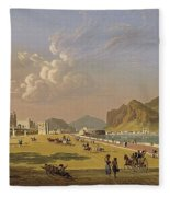 View Of Palermo 1845, Robert Salmon Fleece Blanket