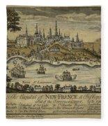 View Of Quebec City 1759 Fleece Blanket