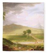 View Of Rutland - Vermont Fleece Blanket