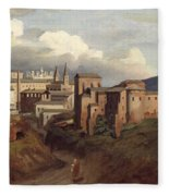 View Of Saint John Lateran Rome Fleece Blanket