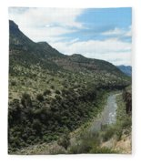 View Of Salt River Canyon Fleece Blanket