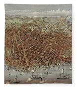 View Of San Francisco Fleece Blanket