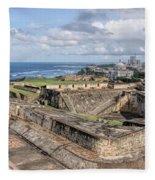 View Of San Juan From The Top Of Fort San Cristoba Fleece Blanket