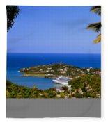 View Of St. Lucia Fleece Blanket