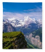 View Of The Swiss Alps Fleece Blanket