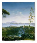 View Of The Bay Of Pozzuoli Fleece Blanket