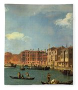 View Of The Canal Of Santa Chiara Fleece Blanket