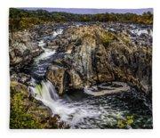 View Of The Great Falls Fleece Blanket