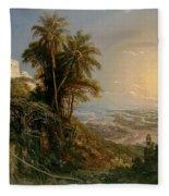 View Of The Harbor Of Puerto Cabello, Study Fleece Blanket