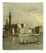 View Of The Isola Di San Michele In Venice Fleece Blanket