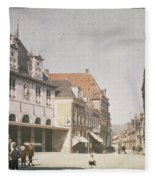 View Of The Market Horn  With The Statue Of Jan Pietersz Coen And The Waag Anonymous  1907   1930 Fleece Blanket