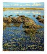 View Of The Marsh Fleece Blanket