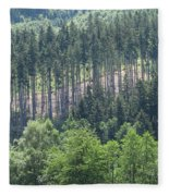 View Of The Mixed Forest Fleece Blanket