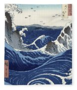 View Of The Naruto Whirlpools At Awa Fleece Blanket