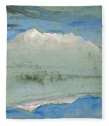 View Of The Old Man At Coniston As Seen From Brantwood House Fleece Blanket