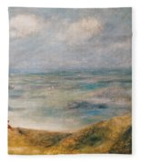 View Of The Sea Guernsey Fleece Blanket
