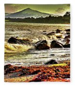 View Of The Sugarloaf Mountain From Killiney, 1b Fleece Blanket