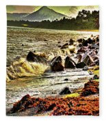 View Of The Sugarloaf Mountain From Killiney Fleece Blanket
