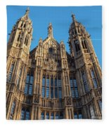 View Of The Top Detail Of The Parlament House In London Fleece Blanket