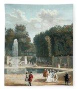 View Of The Tuileries Garden Fleece Blanket