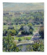View Of The Tuileries Gardens Fleece Blanket