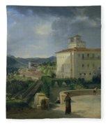 View Of The Villa Medici In Rome Fleece Blanket