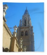 View Of Toledo Cathedral In Sunny Day, Spain. Fleece Blanket